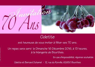 Carte invitation